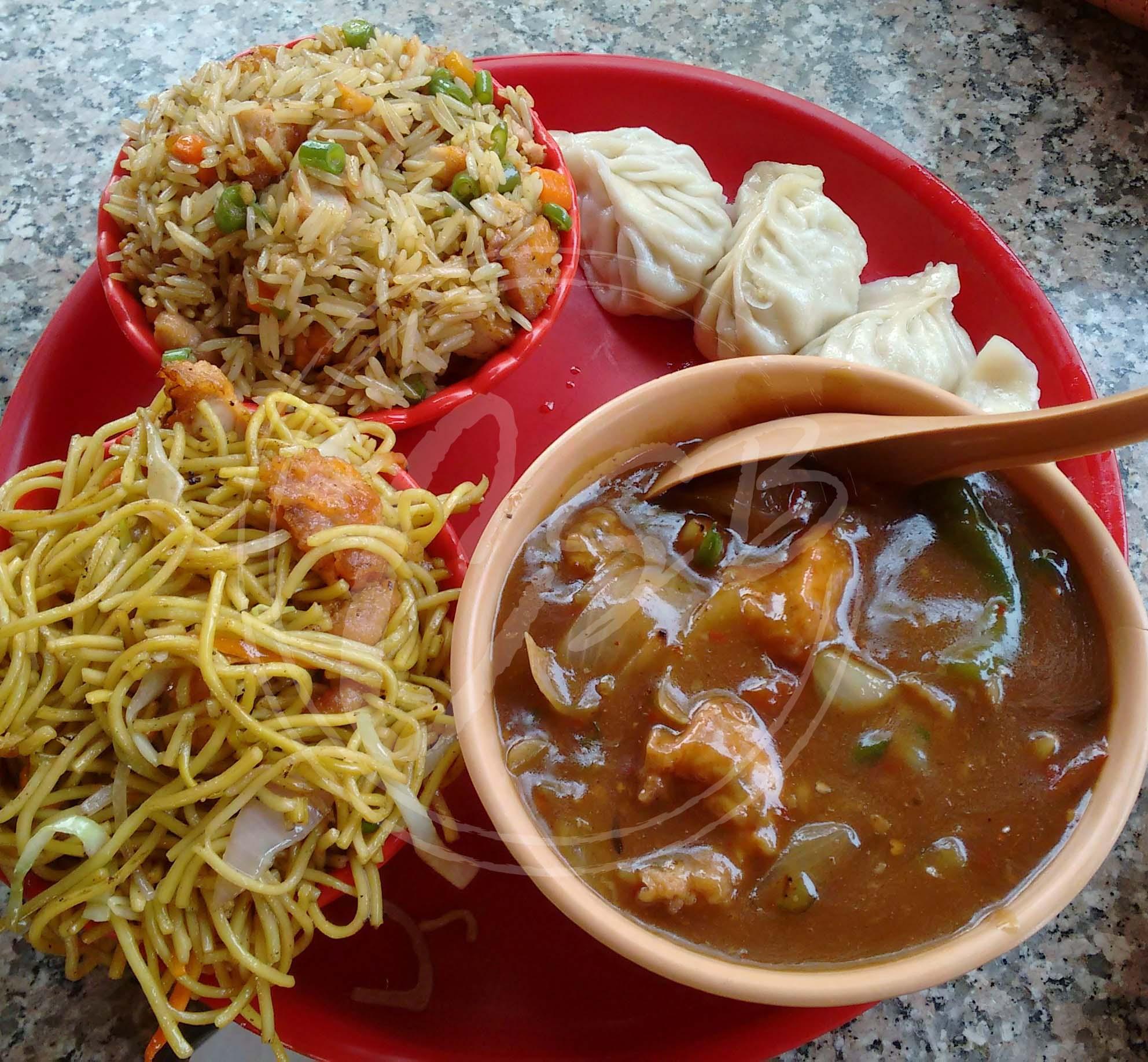 Chinese thali sikkim stall dilli haat chomp slurrp burp for Agra fine indian cuisine menu