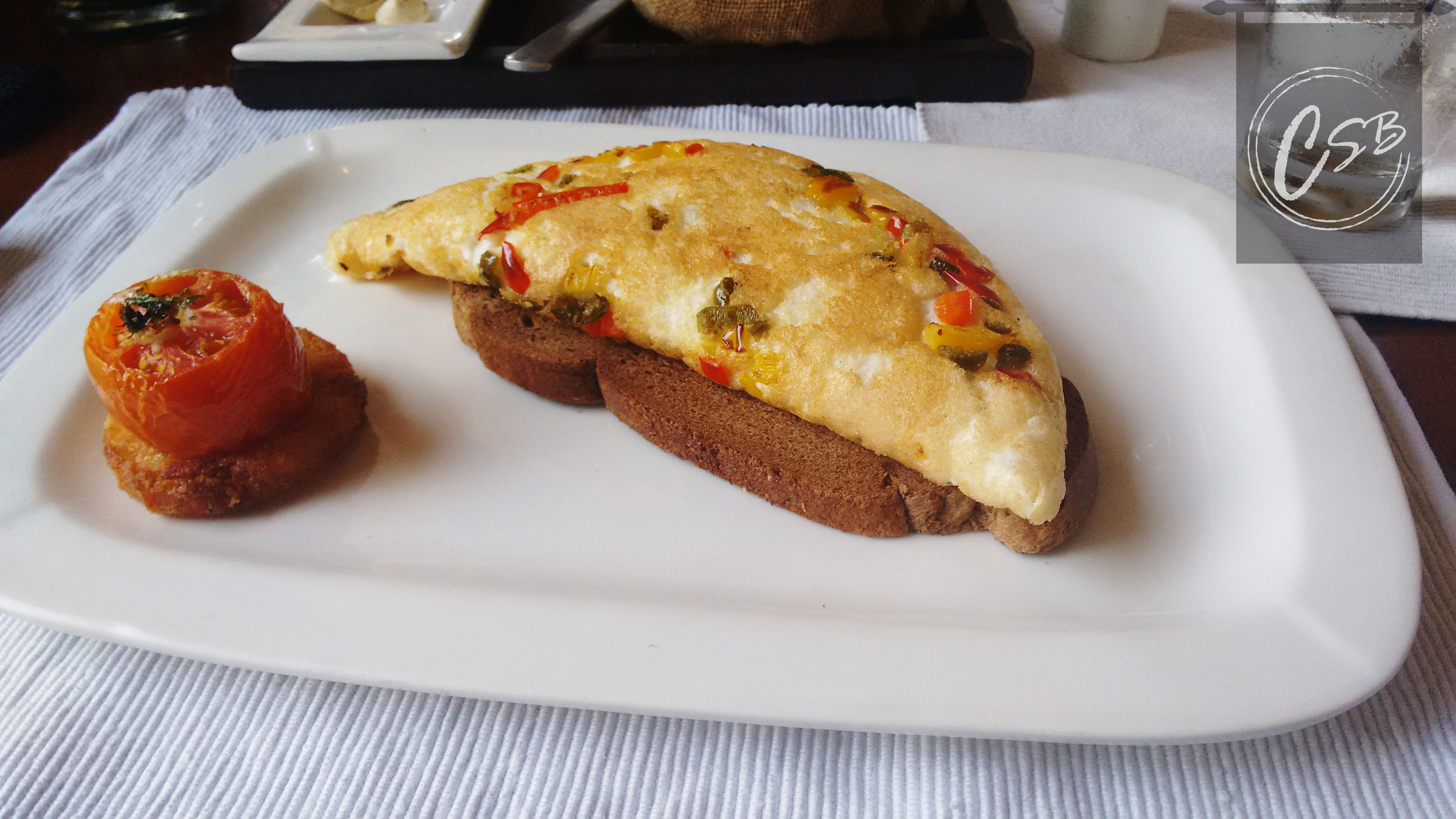 Jalapeno and smoked pimento fluffy omelette
