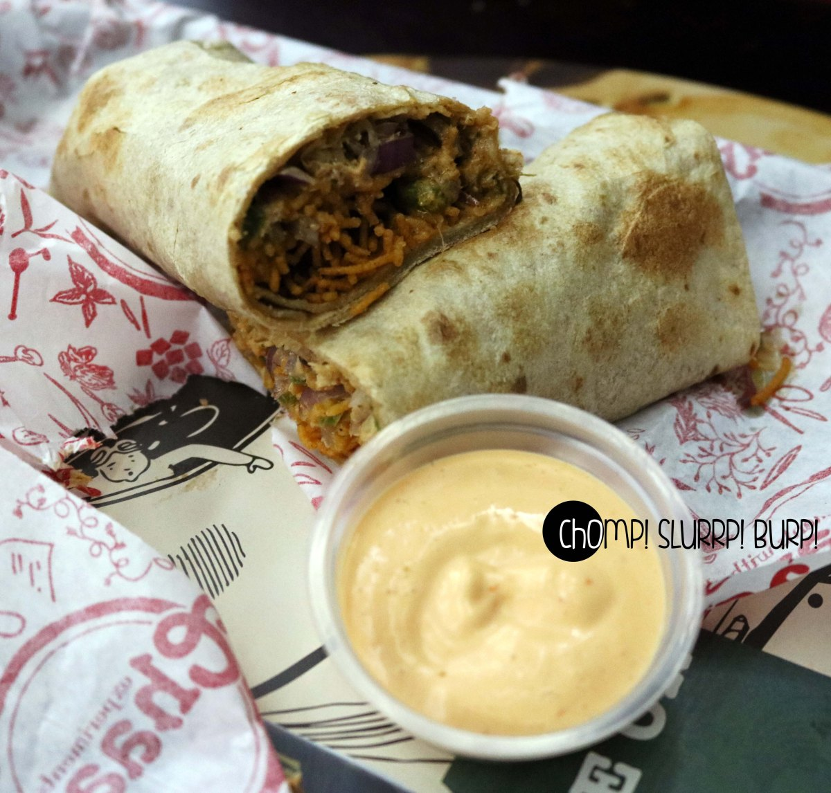 mutton lazeez wrap