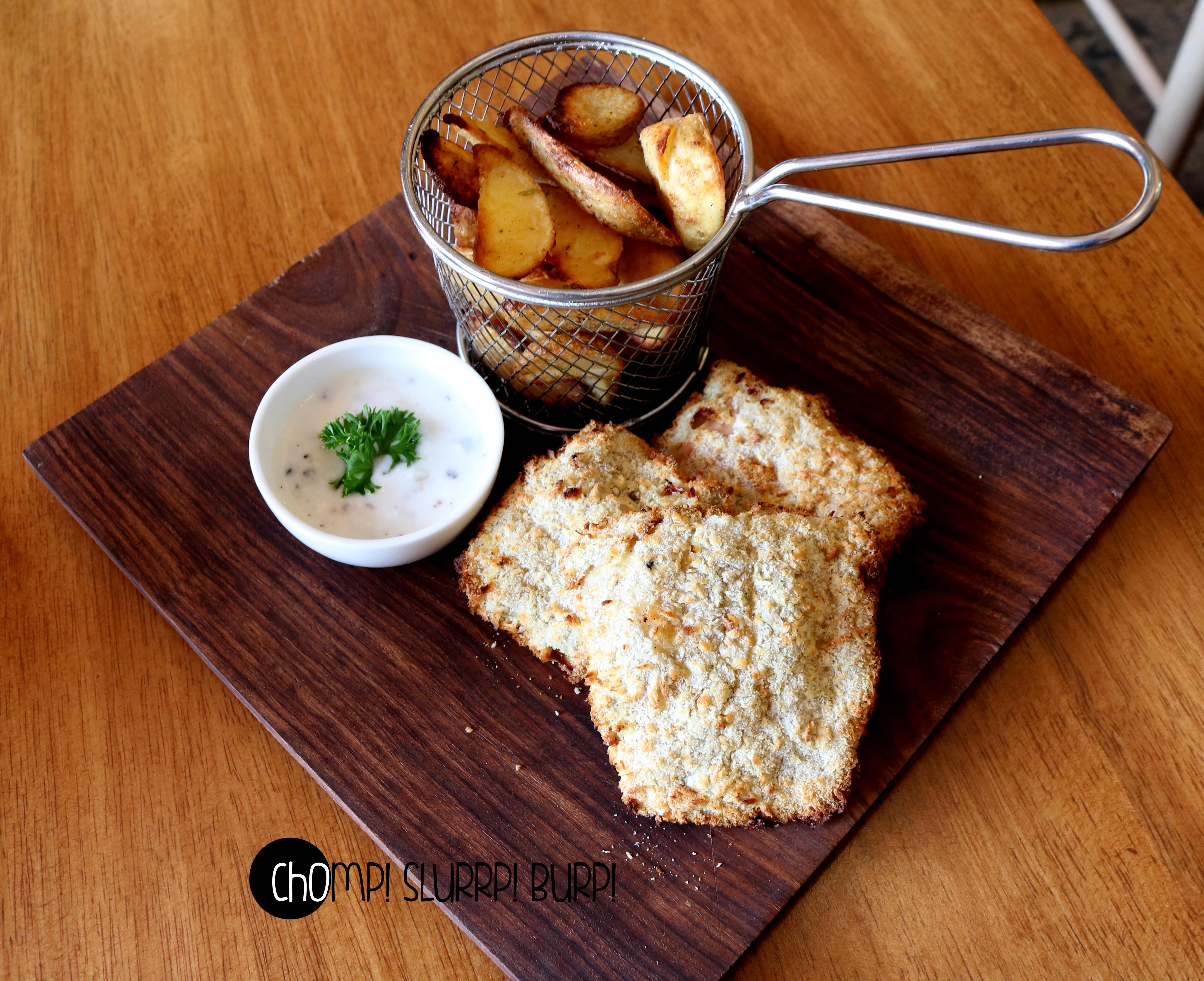 Air fried fish and chips