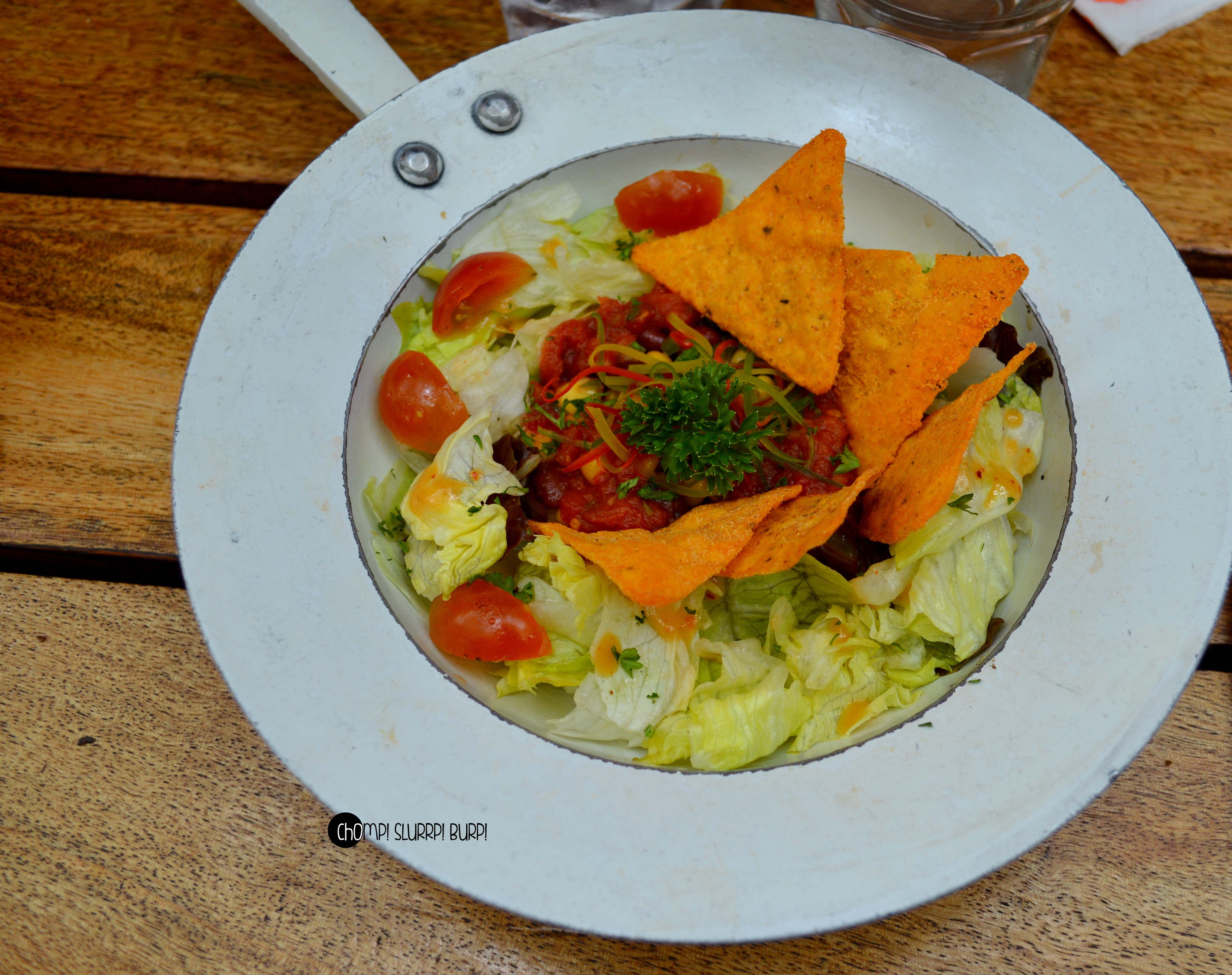 mexican salad with tortilla