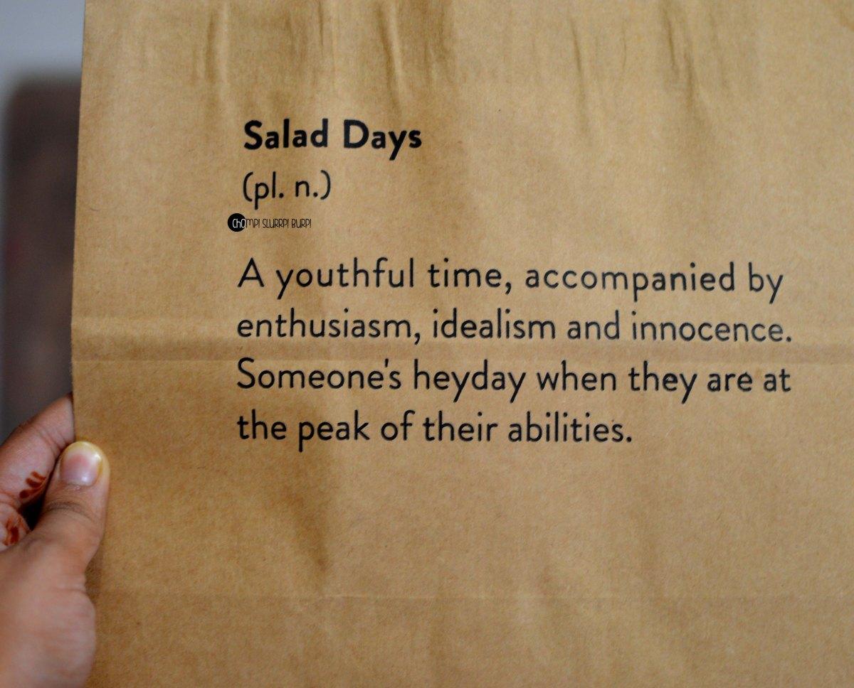 Salad days (1)
