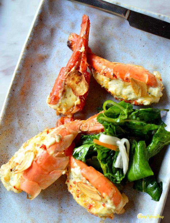 Baked prawns with Thai Infused Oil