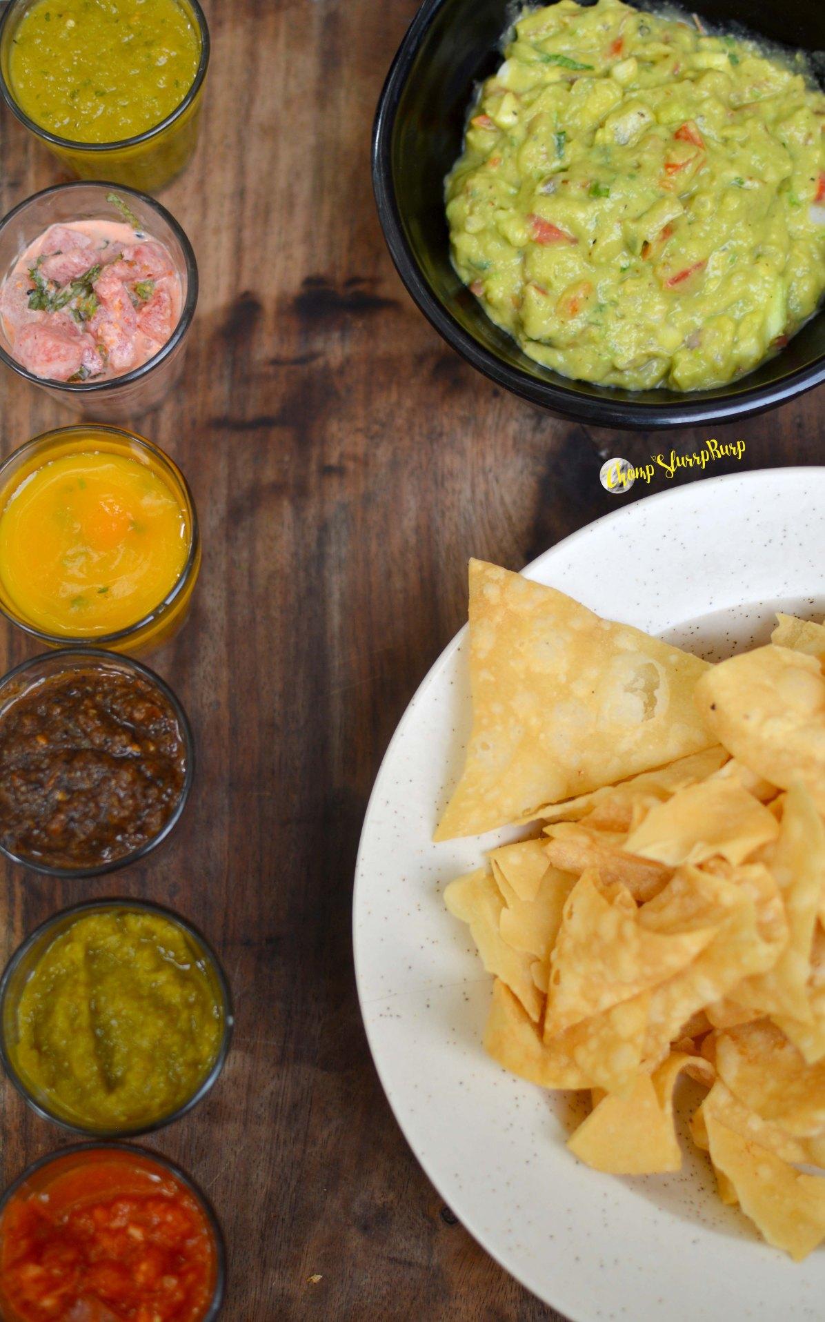 Guacamole and salsa carnivale