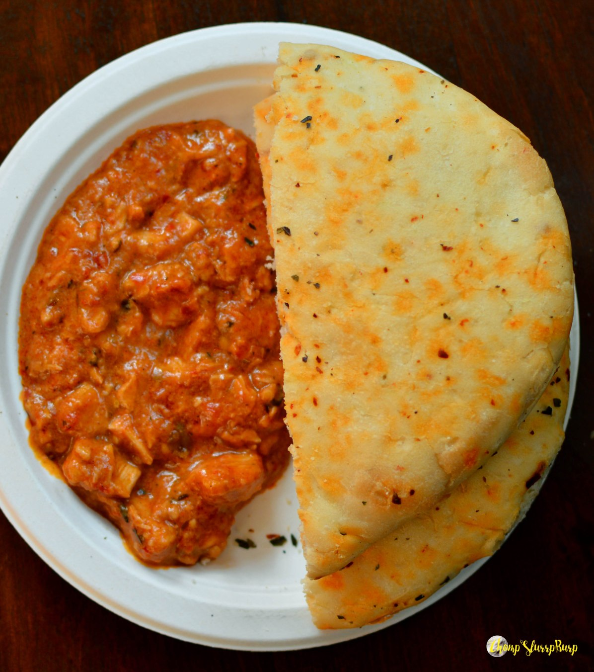 Butter chicken and kulcha