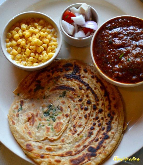 Khada masala chicken thali