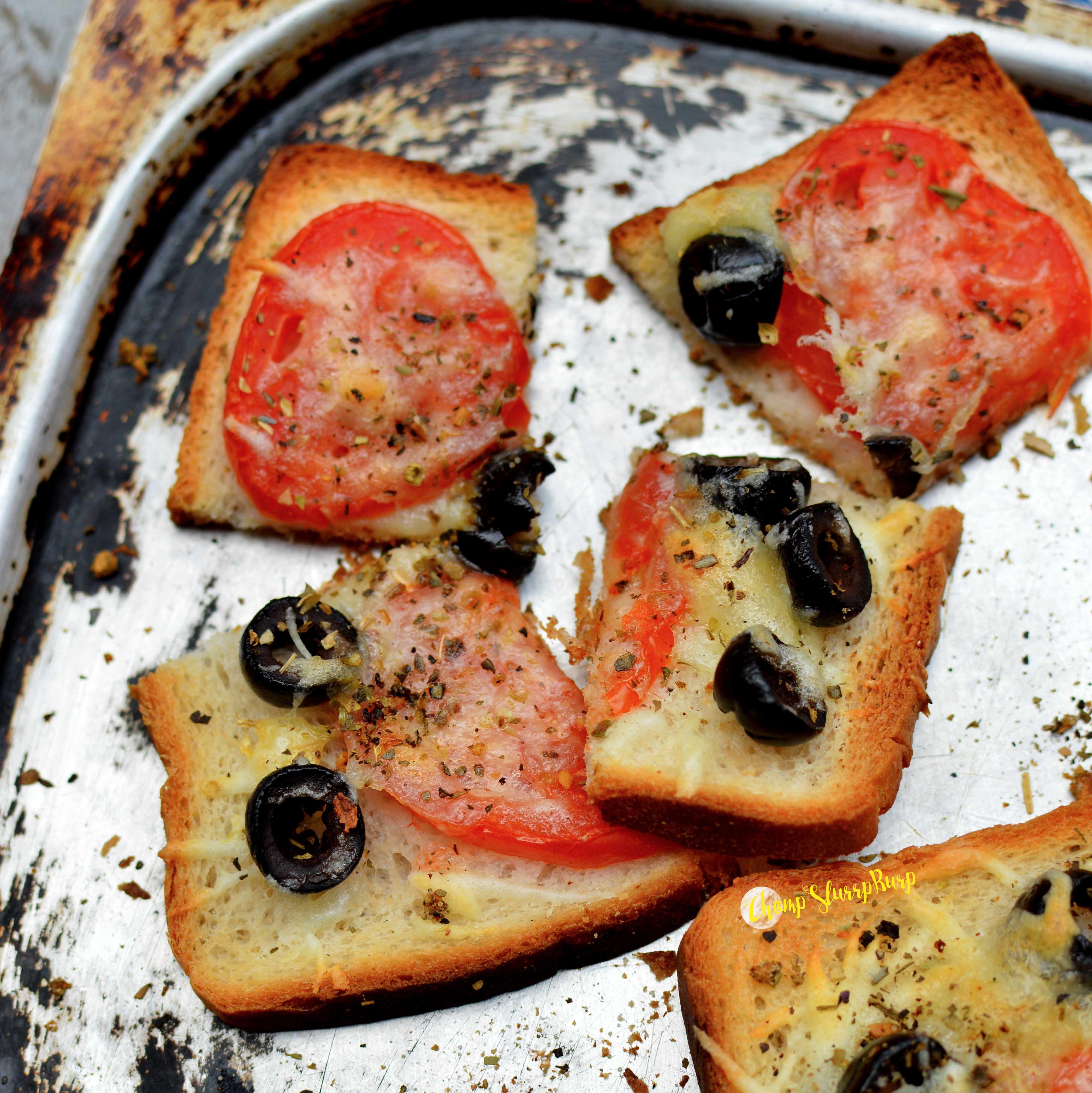 Tomato and Olive Toast