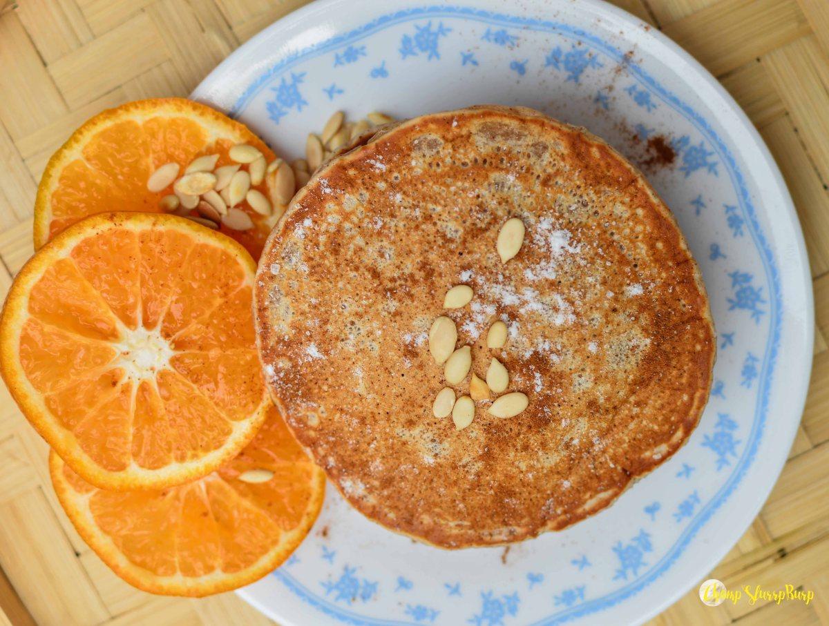 Vegan cinnamon pancakes (1)