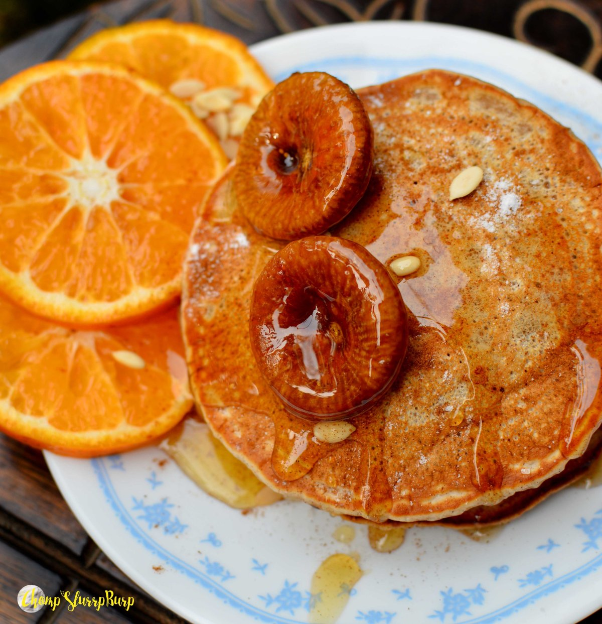 Vegan cinnamon pancakes (4)