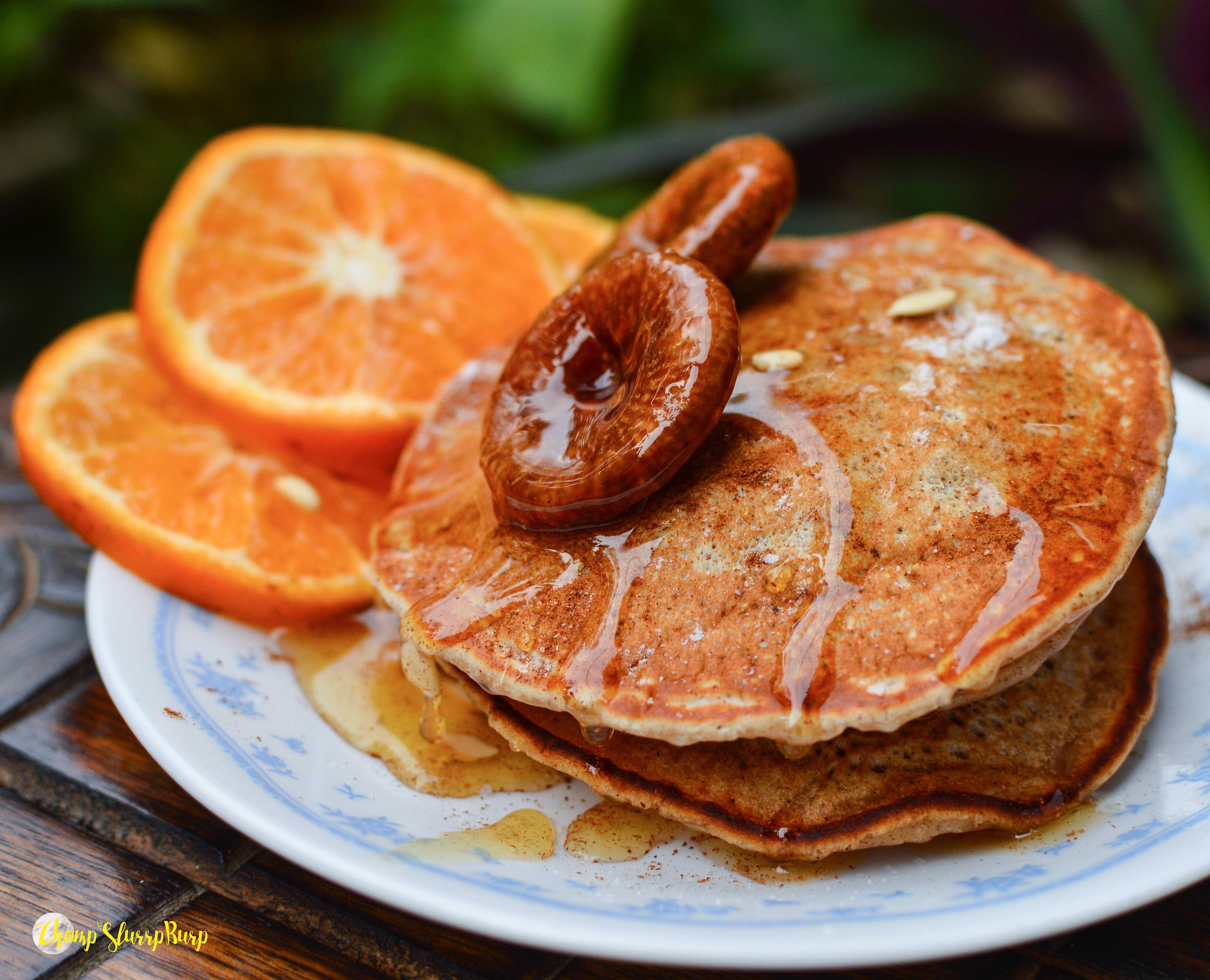Vegan cinnamon pancakes (6)