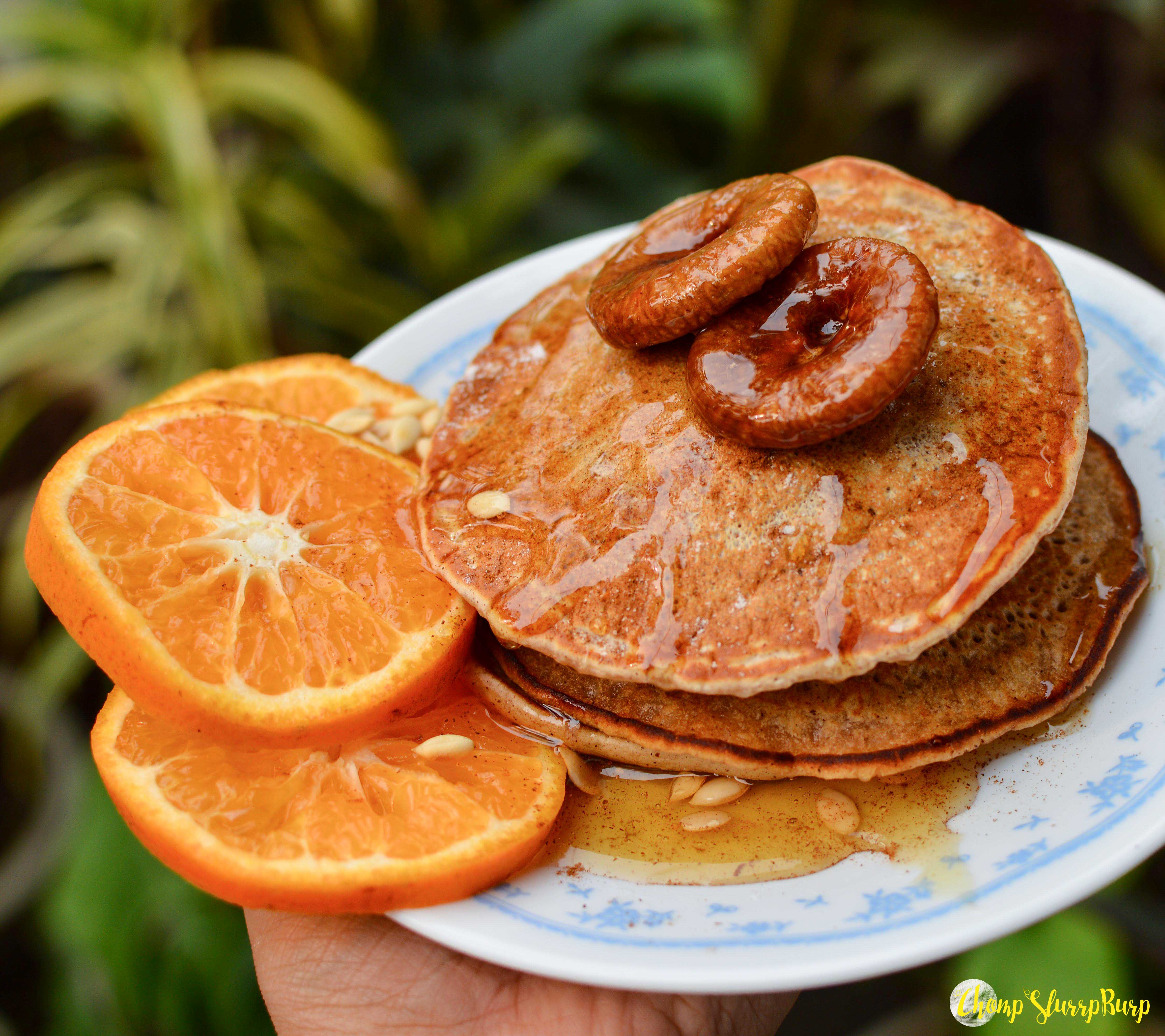 Vegan cinnamon pancakes (7)