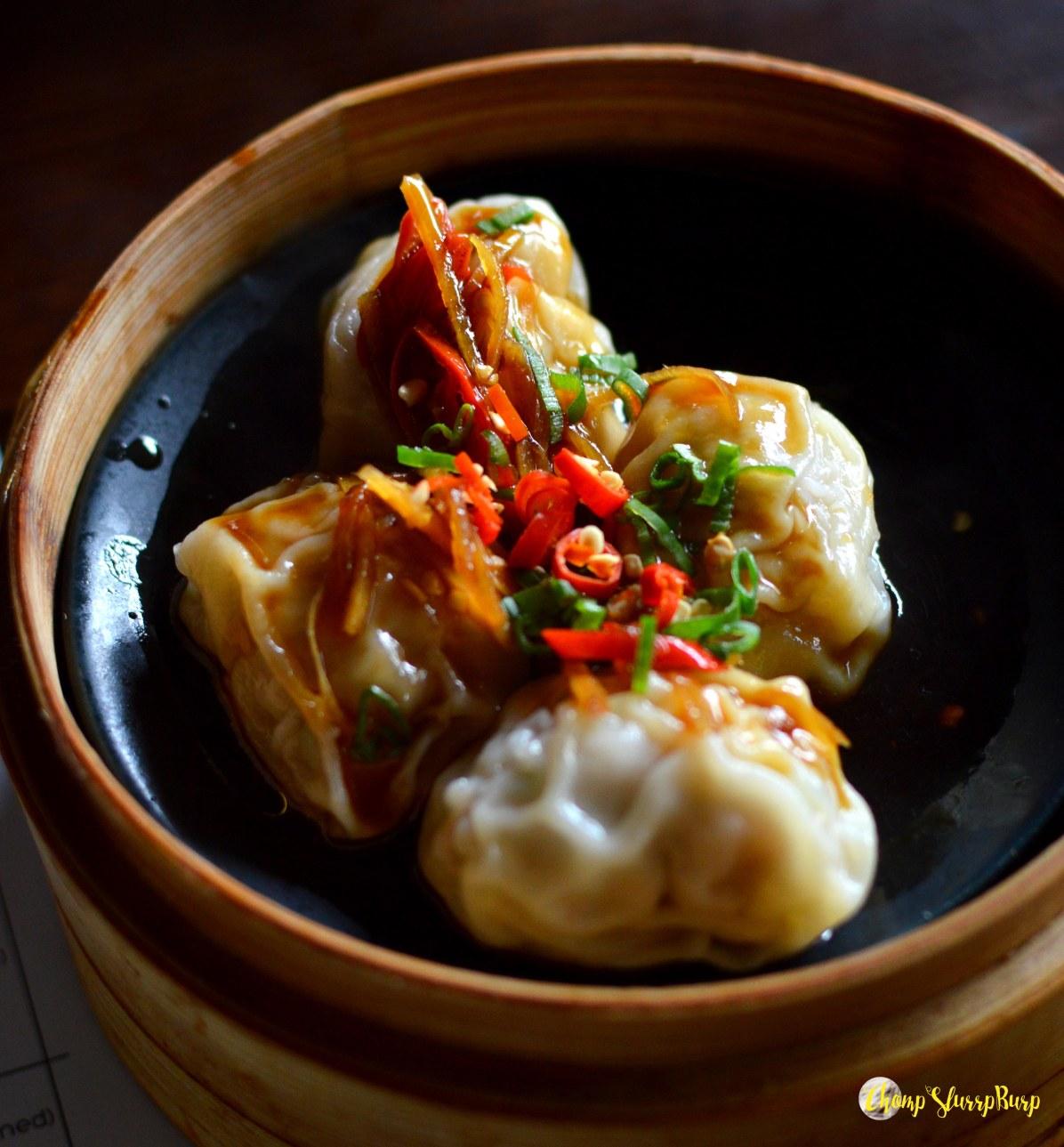 Chicken black pepper dumpling