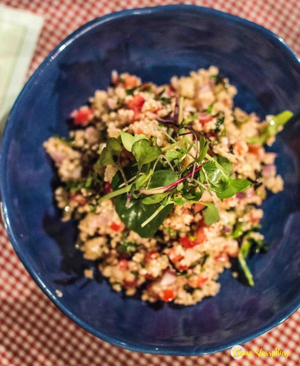Foxtail millet salad