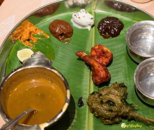 The huge thali