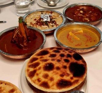 The main course spread